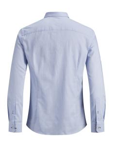 jprmarco detail shirt l/s 12145537 jack & jones overhemd cashmere blue/solid/slim