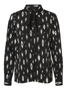 vmberta ls shirt nl lcs 10204072 vero moda blouse black/berta peat