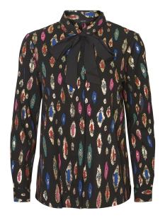 vmberta ls shirt nl lcs 10204072 vero moda blouse black/berta print