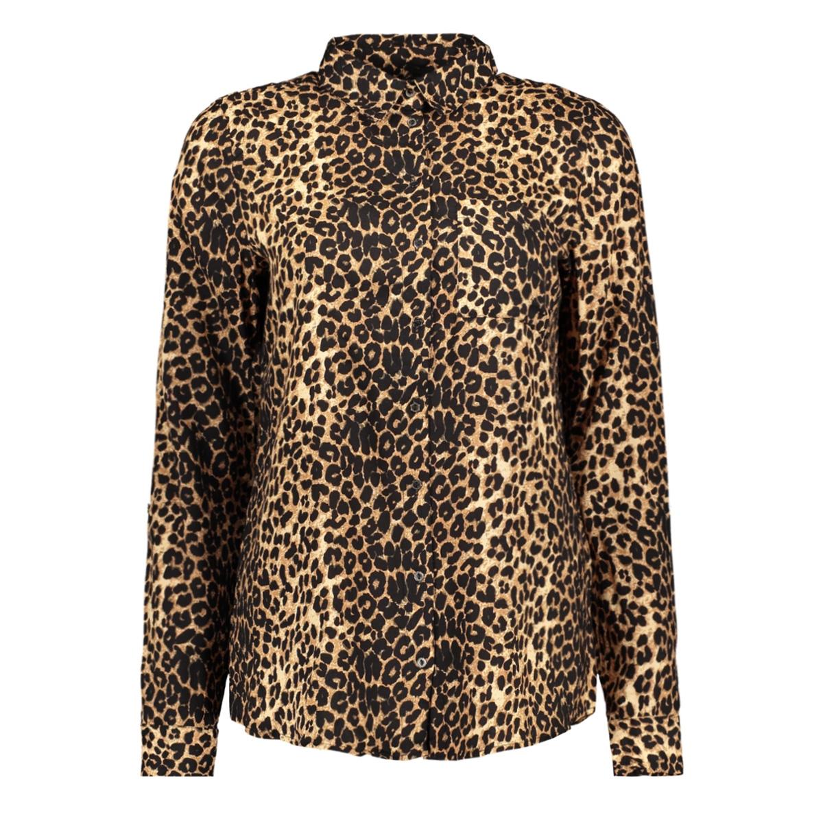 onljosefine l/s animal shirt wvn 15182324 only blouse black/leo