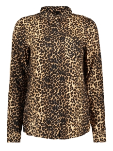 Only Blouse onlJOSEFINE L/S ANIMAL SHIRT WVN 15182324 Black/LEO