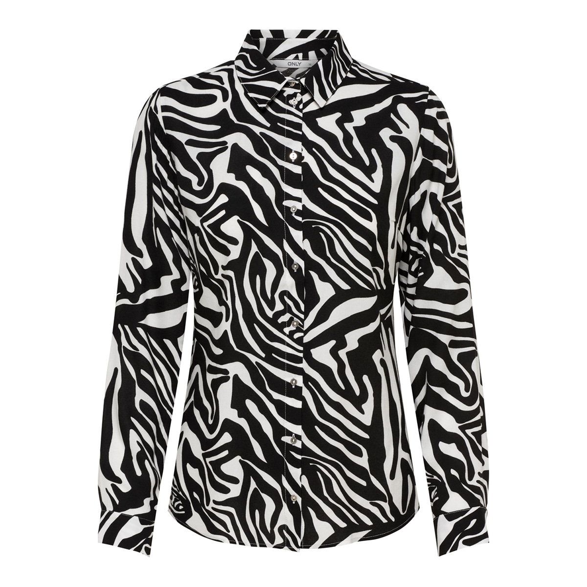 onljosefine l/s animal shirt wvn 15182324 only blouse black/zebra