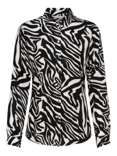 Only Blouse onlJOSEFINE L/S ANIMAL SHIRT WVN 15182324 Black/ZEBRA