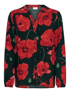 Jacqueline de Yong Blouse JDYICE L/S SHIRT WVN NOOS 15171938 Black/FIREY RED