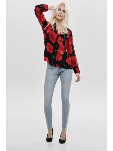 jdyice l/s shirt wvn noos 15171938 jacqueline de yong blouse black/firey red