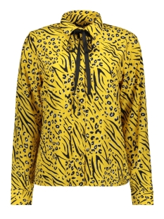 Only Blouse onlMUNI L/S SHIRT WVN 15178572 Yolk Yellow/LEO/ZEBRA