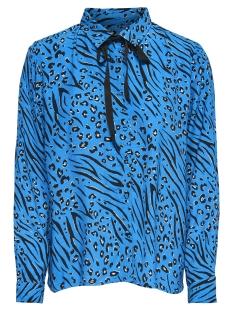 onlmuni l/s shirt wvn 15178572 only blouse brilliant blue/leo/zebra