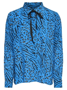 Only Blouse onlMUNI L/S SHIRT WVN 15178572 Brilliant Blue/LEO/ZEBRA
