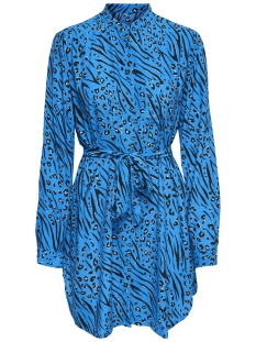 Only Blouse onlMUNI L/S LONG SHIRT WVN 15180023 Brilliant Blue/LEO/ZEBRA