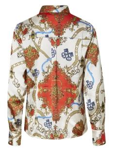 pcmimi ls shirt  dmo pb 17098771 pieces blouse bright white/ chain print
