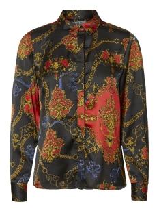 pcmimi ls shirt  dmo pb 17098771 pieces blouse black/chain print