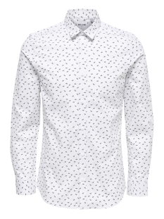 Only & Sons Overhemd onsALFREDO LS DITST AOP SHIRT 22012323 White