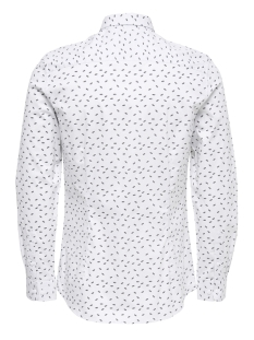 onsalfredo ls ditst aop shirt 22012323 only & sons overhemd white