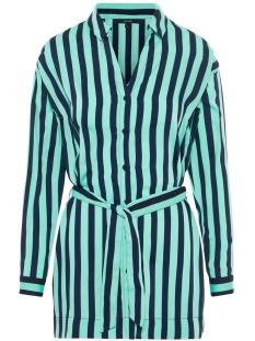 vmstinna ls long shirt wvn 10210399 vero moda blouse wasabi/night sky