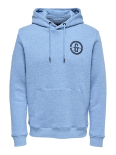 Only & Sons sweater onsORLANDO SWEAT HOODIE 22012250 Imperial Blue