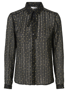 Pieces Blouse PCBINE LS SHIRT 17094689 Black/RANDOM DOT