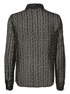 pcbine ls shirt 17094689 pieces blouse black/random dot