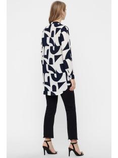 vmboldonia l/s long shirt wvn 10212011 vero moda blouse snow white/boldonia w