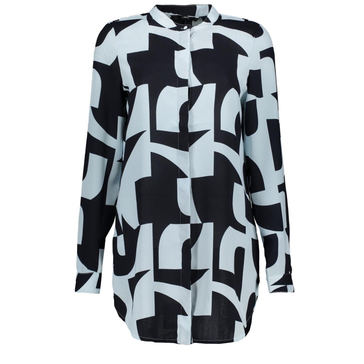 vmboldonia l/s long shirt wvn 10212011 vero moda blouse night sky/boldonia w