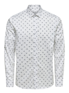 Only & Sons Overhemd onsALVES LS  BIRD AOP 2-PLY SHIRT D 22013503 White