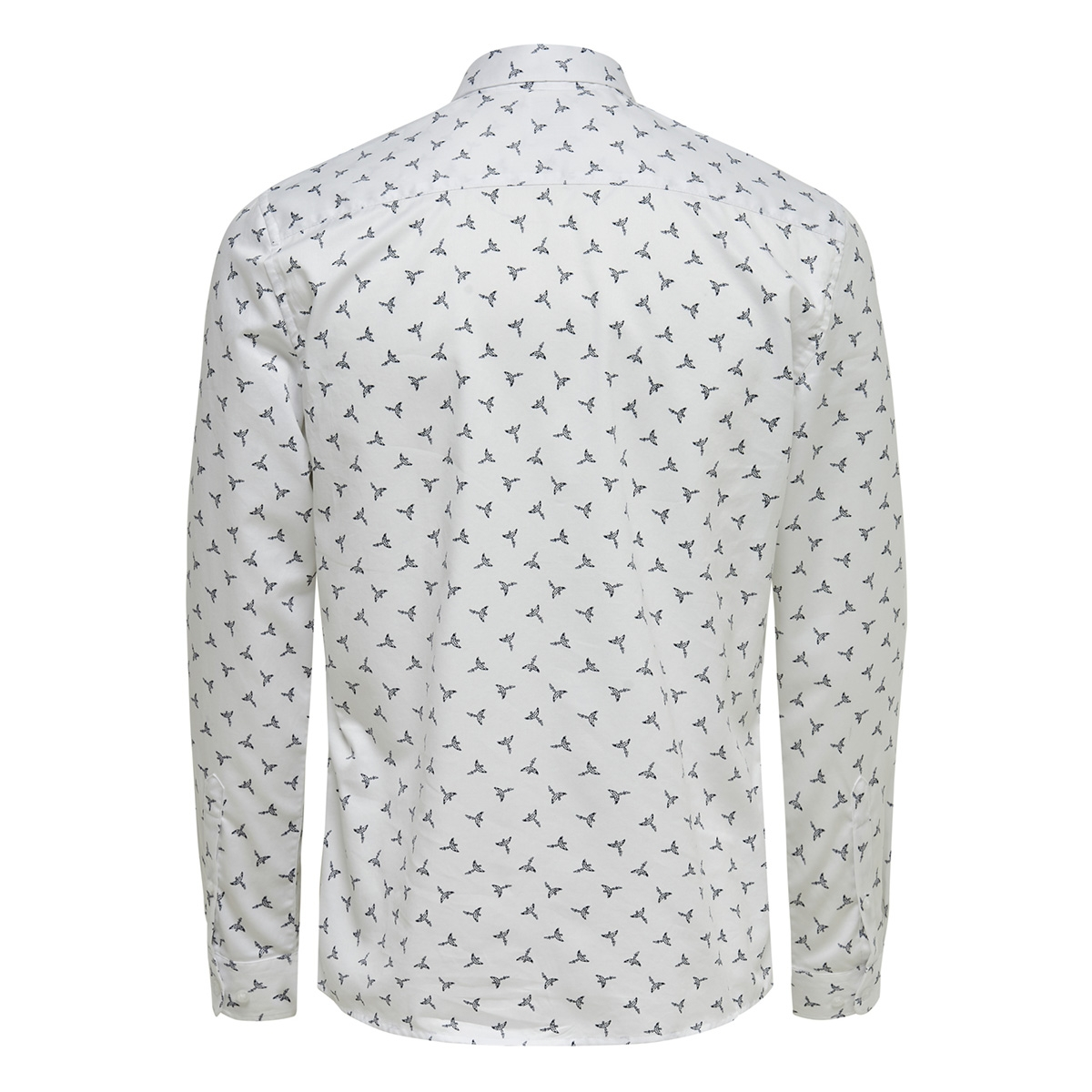 onsalves ls  bird aop 2-ply shirt d 22013503 only & sons overhemd white