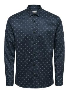 Only & Sons Overhemd onsALVES LS  BIRD AOP 2-PLY SHIRT D 22013503 Dress Blues