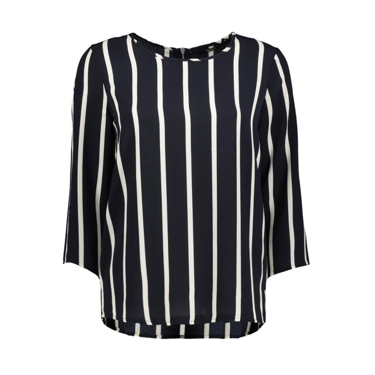 onlnova lux 3/4 sleeve top aop 4 wv 15172743 only t-shirt night sky/aida 20 s