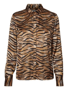 Pieces Blouse PCTIGA LS SHIRT D2D 17098960 Black/TIGER PRINT