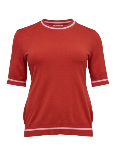 carnam ss o-neck 15171955 only carmakoma t-shirt high risk red