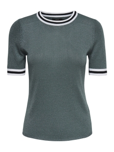 onlkamilla 2/4 pullover knt noos 15140057 only t-shirt balsam green/w matching