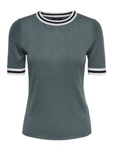 Only T-shirt onlKAMILLA 2/4 PULLOVER KNT NOOS 15140057 Balsam Green/W MATCHING