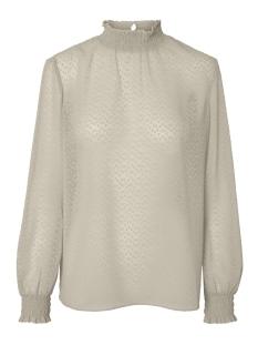 pclacey ls t-neck top camp 17093463 pieces blouse almond milk