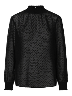 pclacey ls t-neck top camp 17093463 pieces blouse black