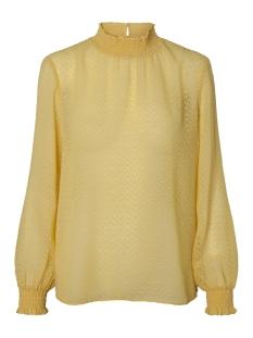 pclacey ls t-neck top camp 17093463 pieces blouse lemon chrome