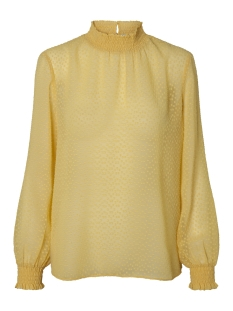 Pieces Blouse PCLACEY LS T-NECK TOP CAMP 17093463 Lemon Chrome