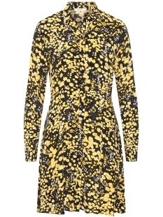 pclonni ls shirt dress pb 17092683 pieces jurk black/ buttercup