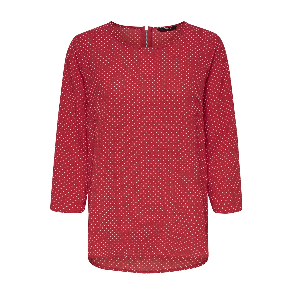 onlnova lux 3/4 sleeve top aop 4 wv 15172743 only t-shirt flame scarlet/multi dot
