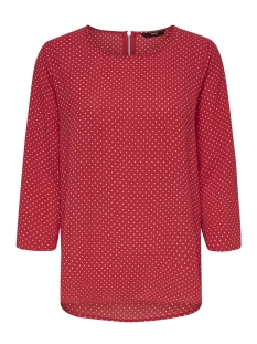 Only T-shirt onlNOVA LUX 3/4 SLEEVE TOP AOP 4 WV 15172743 Flame Scarlet/MULTI DOT