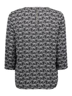 onlnova lux 3/4 sleeve top aop 4 wv 15172743 only t-shirt black/zebra