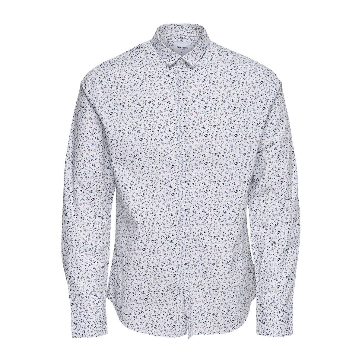 onstodd ls cutaway aop shirt 22012322 only & sons overhemd white