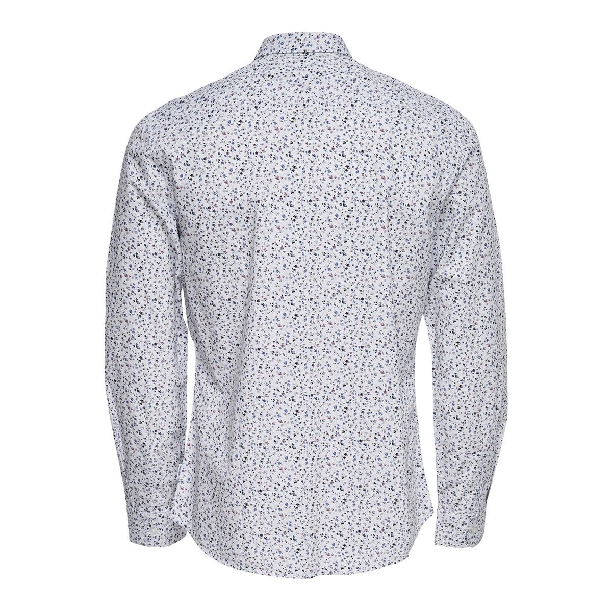 onstodd ls cutaway aop shirt 22012322 only & sons overhemd white