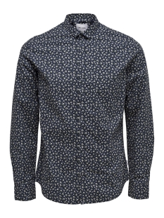 Only & Sons Overhemd onsTODD LS CUTAWAY AOP SHIRT 22012322 Dark Navy