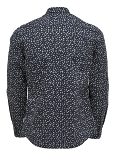 onstodd ls cutaway aop shirt 22012322 only & sons overhemd dark navy