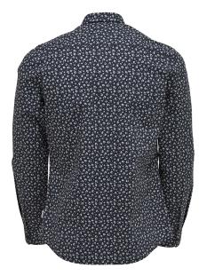onstodd ls cutaway aop shirt 22012322 only & sons overhemd dark navy