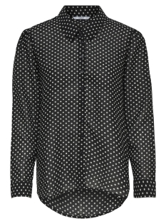 Only Blouse onlfPAIGE LIFE L/S SHIRT ZA WVN 15173233 Black/WHITE DOTS