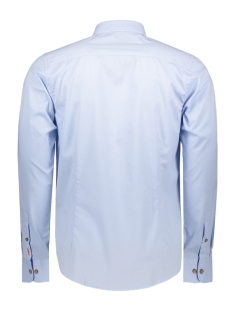 shirt solid stretch me 0103 haze & finn overhemd light blue