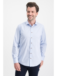 Haze & Finn Overhemd SHIRT SOLID STRETCH ME 0103 LIGHT BLUE