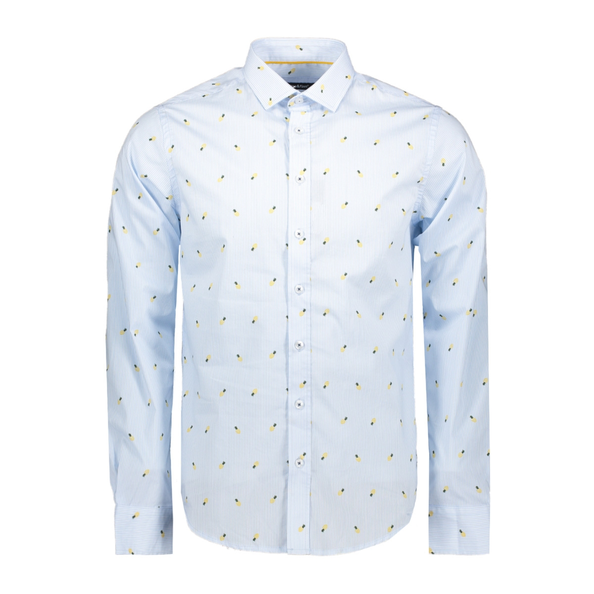 shirt aop stretch mc11 0100 03 haze & finn overhemd pina colada