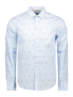 Haze & Finn Overhemd SHIRT AOP STRETCH MC11 0100 03 PINA COLADA