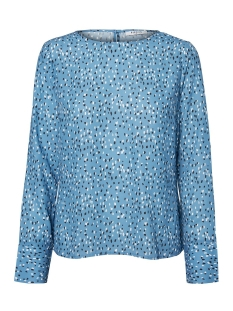 Pieces Blouse PCBUBA LS TOP CAMP 17094951 Coronet Blue/RANDOM DOT